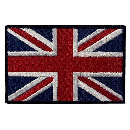 Grande British Union Jack Flag Ricamato Regno Unito Inghilterra Bandiera Ferro Sul Cucia Sulla Zona