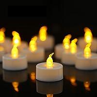 YIWER Chauffe-Plats, Bougies LED, Flamme vacillante sans Flamme Bougies, réaliste à Piles Faux Bougie avec Jaune Chaud…