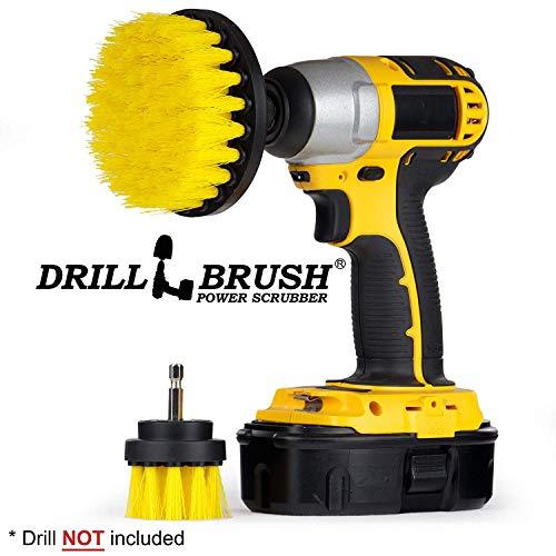 Drill brush - trapano kit spazzola - spazzola per la pulizia - trapano trapano attacco all purpose medium-yellow