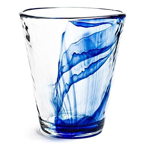 Bormioli Rocco Murano 14.875 oz. Drink Glasses, Long, Blue, Set of 12 by Bormioli Rocco Bormioli Rocco Murano