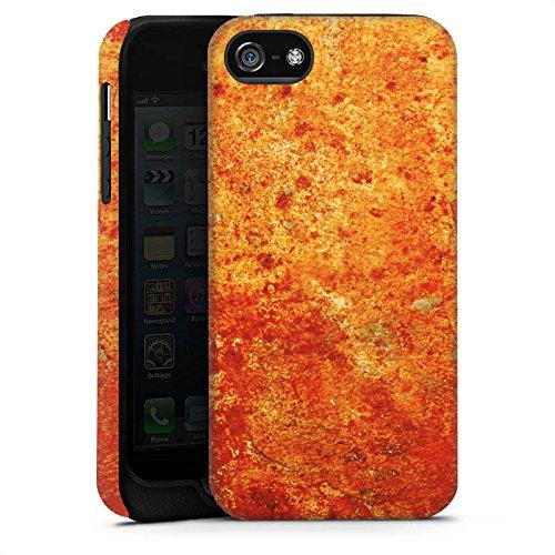 Apple iPhone 4s Housse Étui Silicone Coque Protection Rouille Structure Look Cas Tough terne