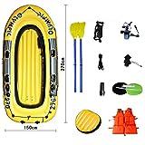Sgs-b Barca Gonfiabile Set 4 Persone, Kayak Gonfiabile, Tender Gonfiabile, Pesca in Aereo con Pompa, 270 * 150Cm