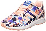 adidas Jungen und Mädchen ZX Flux Sneakers, Pink Haze Coral/FTWR White, 36 2/3 EU