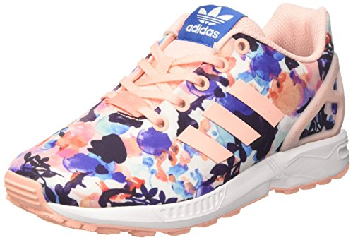 adidas Zx Flux J, Scarpe da Ginnastica Unisex – Bambini Multicolore (Haze Coral/haze Coral/ftwr White)