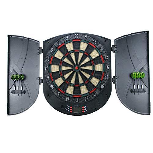 HENGMEI Elektronische Dartscheibe Dartona Dartspiel Dartautomat Dartboard mit 6 Dartpfeilen, 26 Spielen und 180 Varianten (Modell B)
