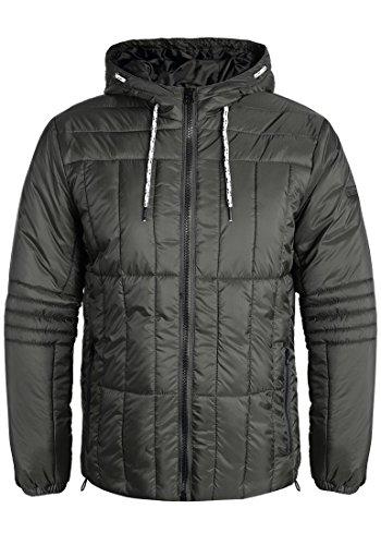 Blend Santiago Herren Steppjacke Übergangsjacke Jacke mit Kapuze, Größe:L, Farbe:Raven Grey (75112)