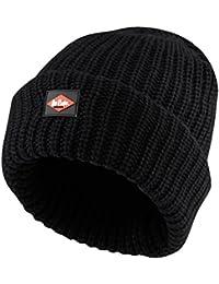 08d8a3d7147 Lee Cooper Men s Knitted Fleece Lined Beanie Hat - Black