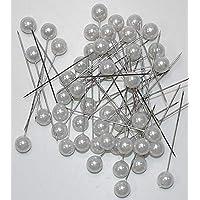 Perlen-Nadeln Deko-Nadeln Perle WEISS 10mm 50 Stück HOCHZEIT