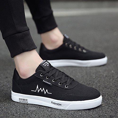 XUEQIN Scarpe da uomo nere di tendenza Scarpe scarpe casuali scarpe di tela di canapa Autunno ( Colore : 3 , dimensioni : EU41/UK7.5-8/CN42 ) 7