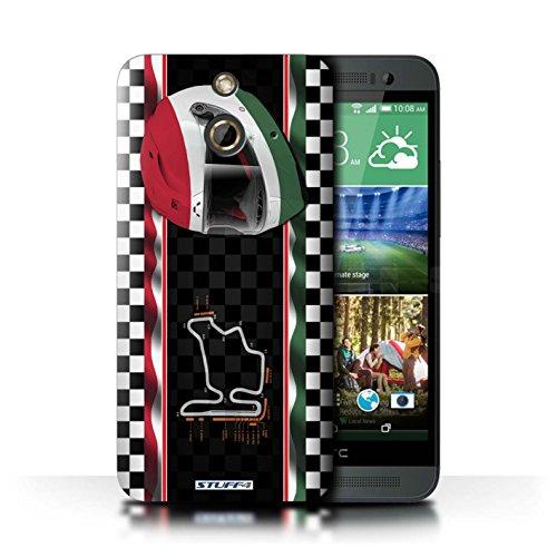 Kobalt® Imprimé Etui / Coque pour HTC One/1 E8 / Italie/Monza conception / Série F1 Piste Drapeau Hongrie/Budapest