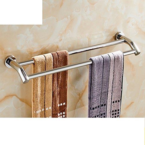 Portasciugamani in acciaio inox/ bagno asciugamano appeso/ bathroom wall e Sapone/ doppia cremagliera di tovagliolo-G