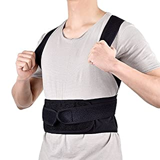 AUSHEN Back Posture Corrector Shoulder Lumbar Waist Support Belt for Men and Women Comfortable and Discreet Pain Relief Back Corrector Posture