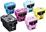 Prestige Cartridge HP 363 Lot de 6 Cartouches d'encre compatible avec Imprimante Photosmart