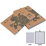 Quaderni Carta Riciclata (5 Pz) - Quaderno Appunti Block Notes A4 Normale per Scuola e Ufficio - Quaderno Fogli Bianchi con Copertina Marrone per Viaggi - Quaderno A4 Ecologico (60 GSM, 80 Fogli)