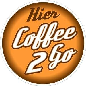 schild aluverbund 3mm coffee to go kaffee 2 go 100 cm rund b robedarf schreibwaren. Black Bedroom Furniture Sets. Home Design Ideas