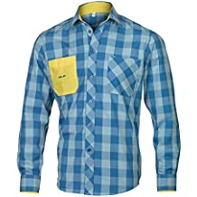 Camisa XLC B4088–ft de A11de cuadros de color azul Talla M (1pieza)
