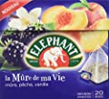 Elephant Infusion la Mûre de ma Vie Mûre Pêche Vanille 20 Sachets 36 g