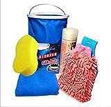 Chytaii Auto Reinigungsset Reinigung KFZ Reinigungswerkzeuge Waschhandschuh Reinigungtuch 6 Set für Auto Motorrad Fahrrad Haushalt Reinigung