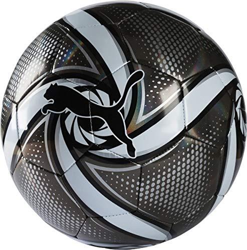 PUMA Future Flare Ball Fußball, Black White-Silver, 5