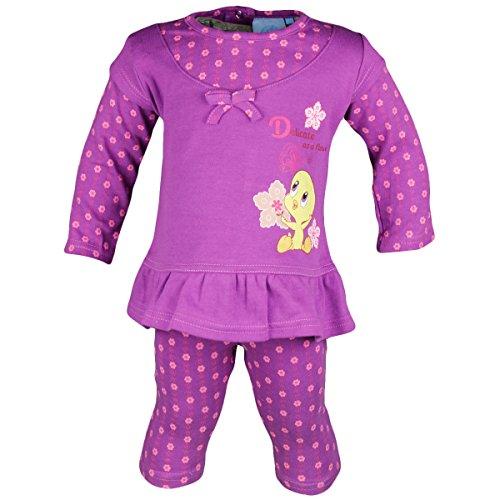Tweety Baby Set Leggins Tunika 2in1-Look pink/rosa M19 (80, lila)