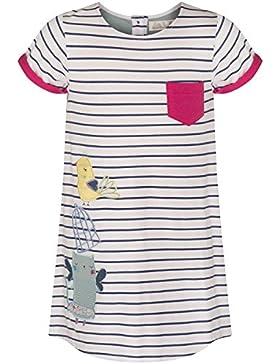 The Essential One – Baby Kinder Mädchen – Katze A-Linie gestreiften Kleid – Dunkel Blau / Weiß - EOT21