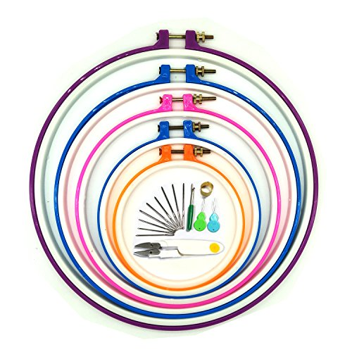 Wartoon Stickerei Ring Stickrahmen Embroidery Hoop Embroidery Cross Stitch - 5 PCS