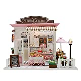 Oddity Dollhouse Miniature DIY House Kit LED Creativo Stanza con mobili Craft Mini Doll House Toy Model Construction Kit Building Model Toys Birthday Senza Protezione Antipolvere