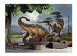 YUANLINGWEI Benutzerdefinierte Größe 3D Wohnkultur Dinosaurier Wand Hintergrundbild Jurassic World 3D Wandbilder Tapete