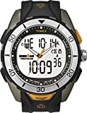 Timex Men's Quartz Watch with LCD Dial Analogue, Digital Display and Black Resin Strap T5K402