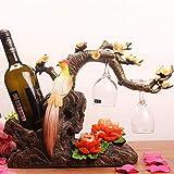 Yarmy Weinregal Basteln Home Schmuck Dekoration Weinschränke Dekorative Praktische Kreative Wohnzimmer Bar Dekoration B
