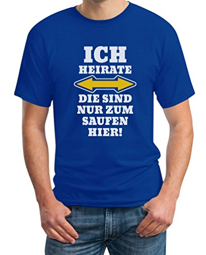 Shirtgeil Herren JGA Ich Heirate Die Saufen Hier T-Shirt XX-Large ()