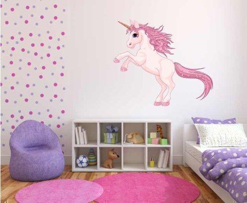 Full Colour Unicorn Girls Bedroom Nursery Wall Sticker Decal Kids ...