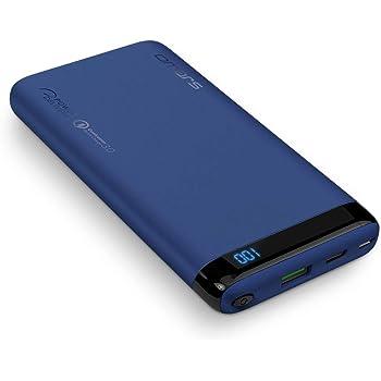 Omars Powerbank Carica Veloce 10000mAh con Porta USB C da 18W PD 2.0, USB A Porta QC3.0 Caricabatterie Portatile per iPhone X 8 7 Plus 6s 6 iPad Air Mini Samsung Galaxy S9 S8 S7 Edge S6 Smartphone