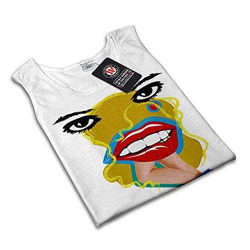 Lächerlich Zitat Slogan Dada Kunst Damen S-2XL Muskelshirt | Wellcoda Weiß