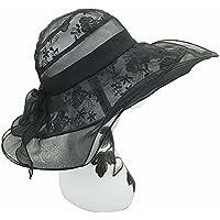 Yiwuhu Sombrero de Seda Grande de Seda del Color del Bowknot de la Primavera y del Verano con el Sombrero de Seda. Simple