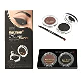 #4: Music Flower 2 in 1 Eyeliner Water Soluble Powder Long Wear Eyeliner (brown and black) M1090