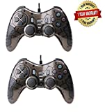 #8: Aironx USB 2.0 Wired Gamepad with Dual Vibration Gamepad Game Controller for Laptop and PC Set of 2 Black Or Red