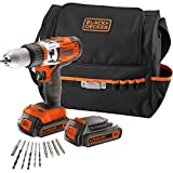 Black+Decker EGBHP188BSA-QW – Kit: Taladro percutor 18V con 2 baterías, 2,0Ah Litio + 10...