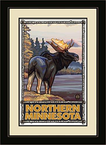 Northwest Art Mall Northern Minnesota Elch gerahmt Art Wand von Paul A. lanquist, 13von 40,6cm