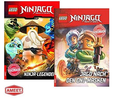 LEGO® NinjagoTM Ninja-Legenden + Jagd nach den Oni-Masken: fesselnde Lesebuch für Erstleser