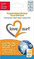 International 3G Data Travel Trio SIM Card - EUROPE - (34 EU Countries), ASIA, USA, CARIBBEAN, AFRICA & MIDDLE EAST - (EUROPE 200MB )