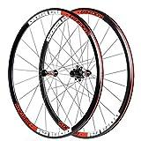 MZPWJD Paire de Roues Vélo Route 700C Jante en Alliage D'aluminium Roulement Scellé 30mm Roues de Vélo V-Brake 8 9 10 11 Vitesses (Color : Red)
