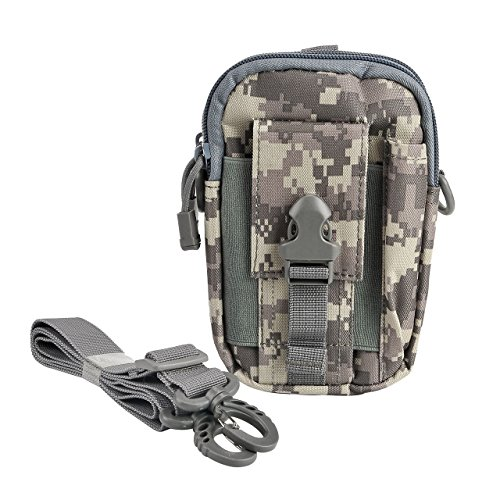 Faleto klein Outdoor Reisen Sport Taktische Tasche Hüfttasche Bauchtasche Gürteltasche für Camping Wandern Radfahren Klettern und Reisen (ACU Camouflage)