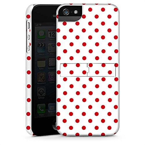 Apple iPhone 5s Housse étui coque protection Motif Motif Polka points CasStandup blanc