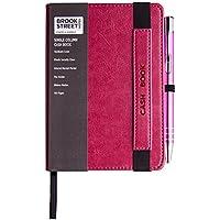 Libro de contabilidad tamaño A6 de una sola columna, color rosa A6