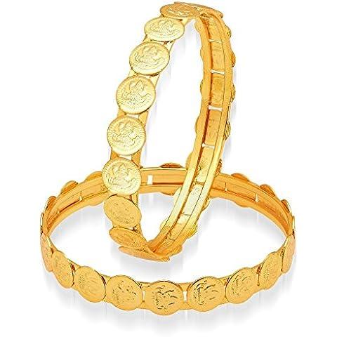 El joyero classic 22 K chapado en oro brazalete moneda lakshmi par