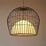 Chinesischer Vogelkäfigleuchter Schmiedeeisen Restaurant Teehaus Antike Laterne Garten Balkon Retro Kreative Beleuchtung