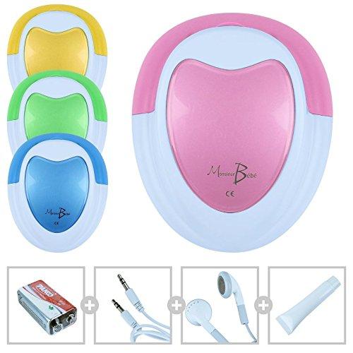 monsieur-bebe-r-doppler-fetal-gel-pila-auricular-cable-audio-para-ordenador-4-colores-norma-en-60601