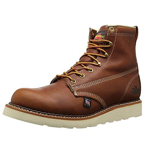 Thorogood 6 inches Plain Toe Work Boot 814-4355, Herren Stiefel / Bootsschuh, braun, 42.5 EU / 8.5 UK 6-zoll Plain Toe Boot