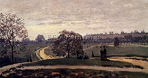 MONET HYDE PARK LONDON 1871 BILDER BILD REPRODUKTION OLGEMALDE MALEREI 60x120cm HOCHWERTIGER